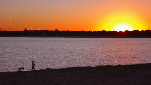 Sunset from Carson Beach, South Boston