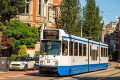 GVB 12G tram Trapwagen 841, Lijn 16, Koninginneweg