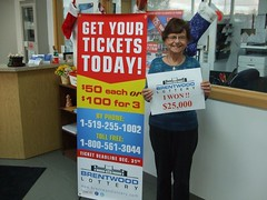 Shirley Herman won $25,000 in the Brentwood Lottery XXV Early Bird Draw.