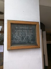 Photo of Old Bedford Hotel bombing black plaque