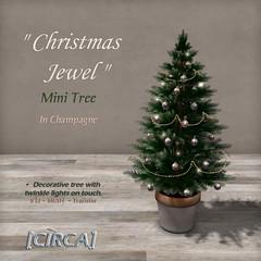 "[CIRCA] - ""Christmas Jewel"" - Mini Tree - Champagne"