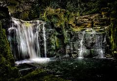 waterfall in jesmond dene newcastle...
