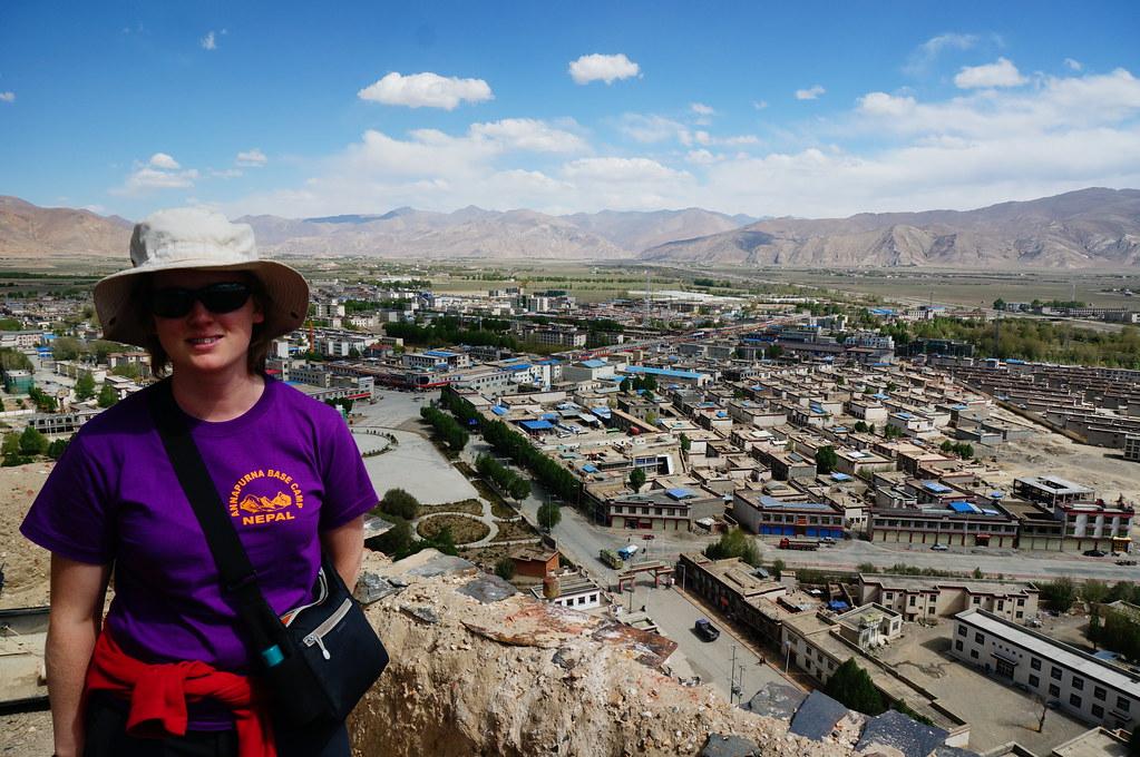 Annemarie overlooking Gyantse