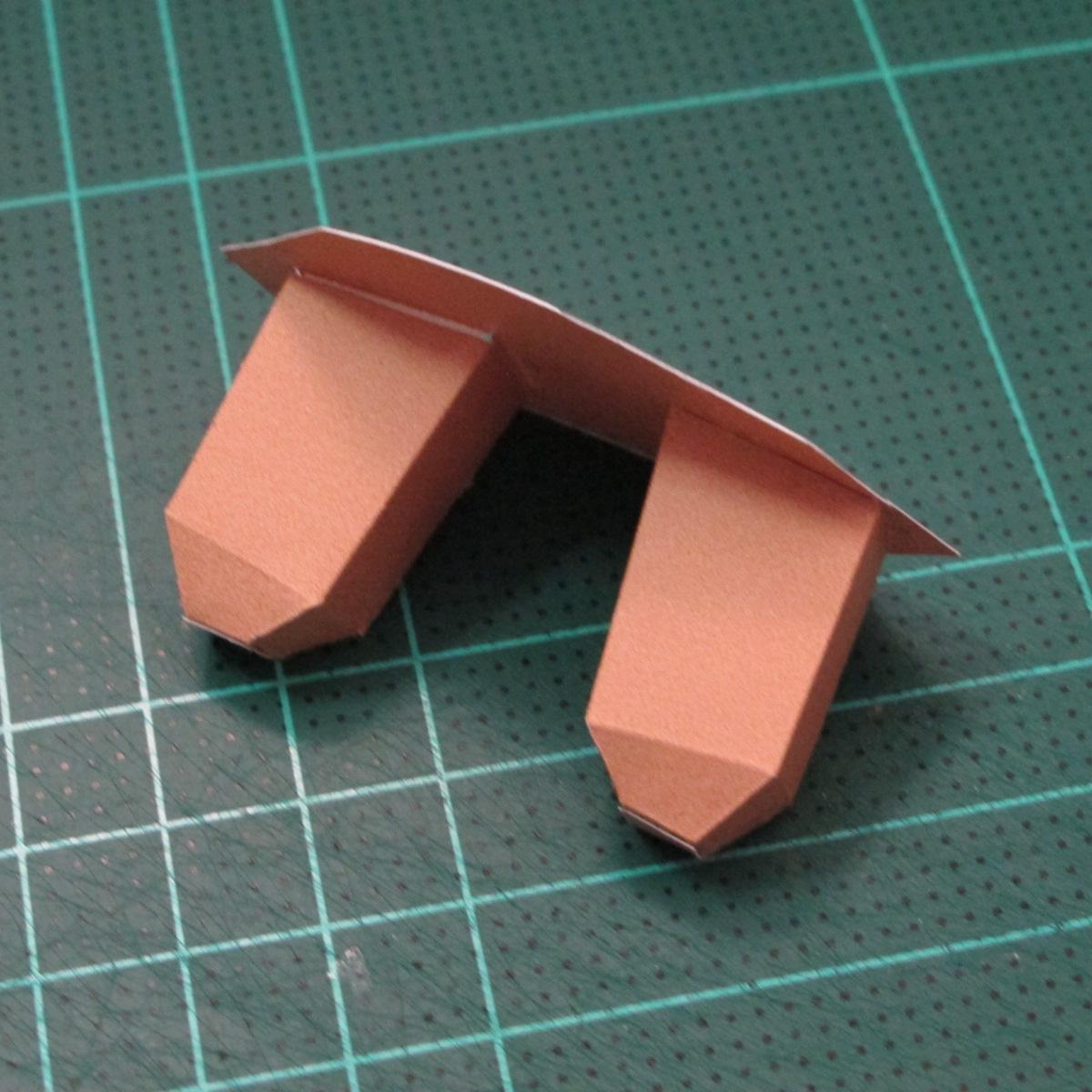 วิธีทำโมเดลกระดาษคุกกี้รสคุกกี้แอนด์ครีม  (Cookie Run Cream Cookie Papercraft Model) 023