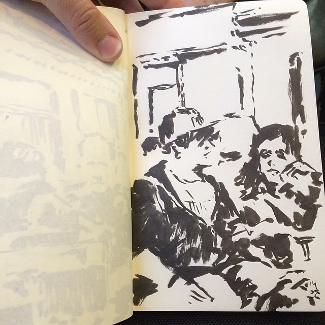 #train #sketch #urbansketch #pentel