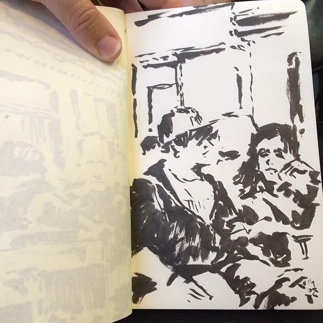 #train #sketch #urbansketch #pentel