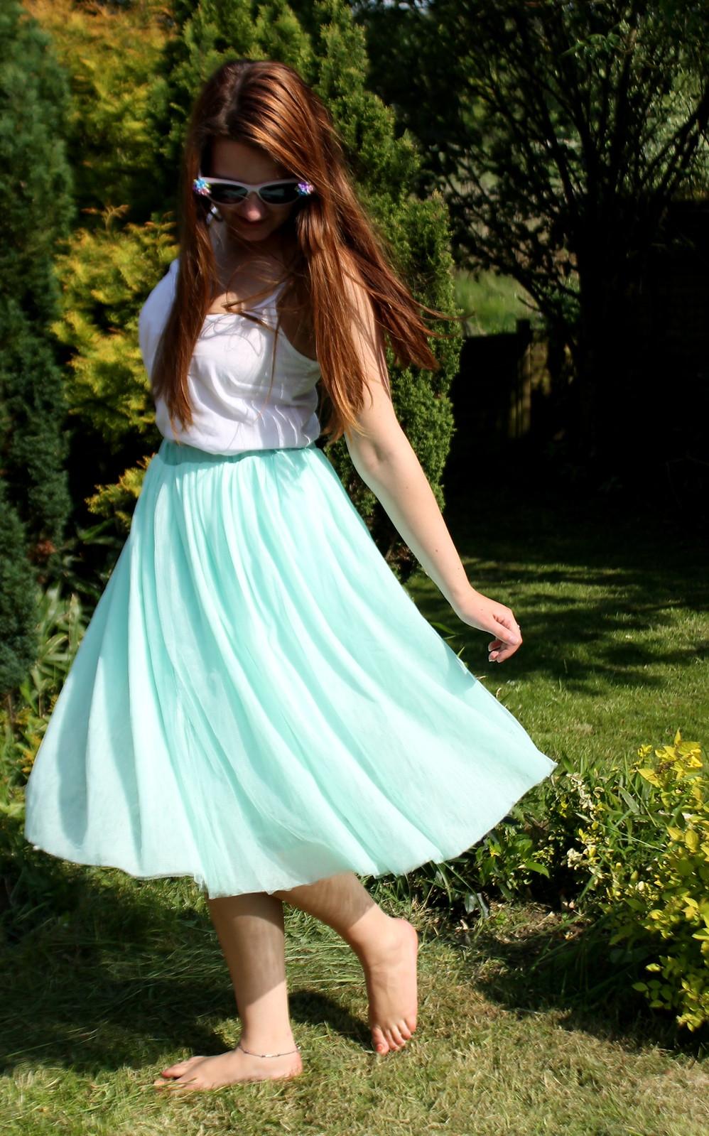 Tulle full skirt