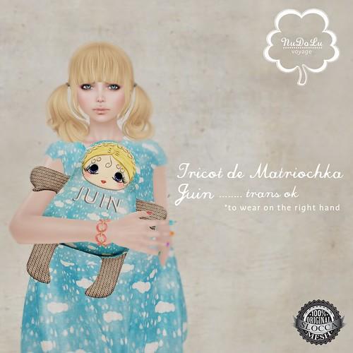 NuDoLu Voyage Tricot de Matriochka Juin AD