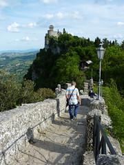 San Marino - passo delle Streghe, view to la Cesta o Fratta