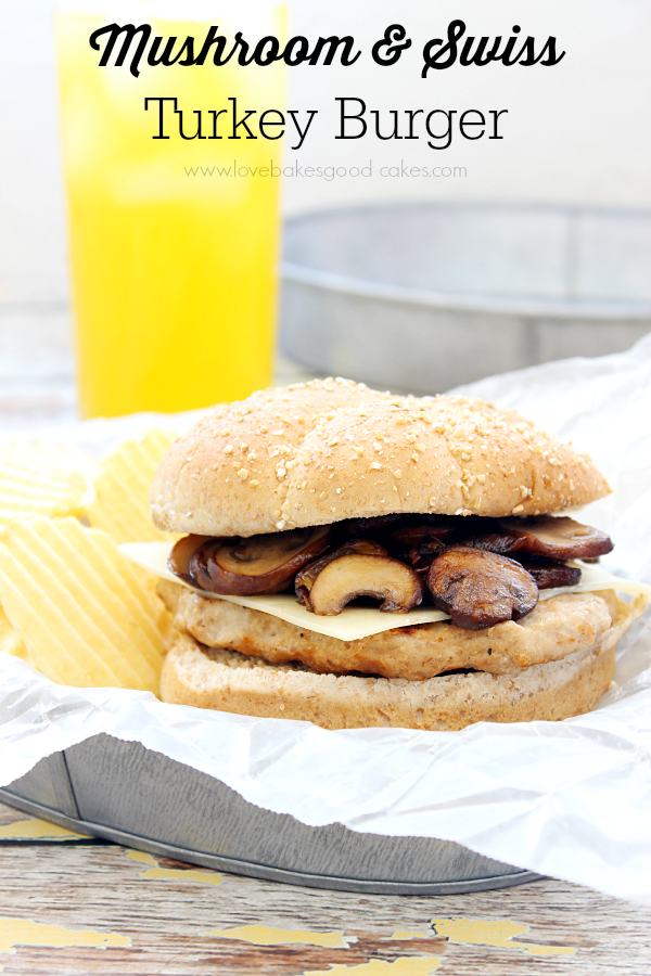 Mushroom and Swiss Turkey Burger #burgers #sandwiches #turkey
