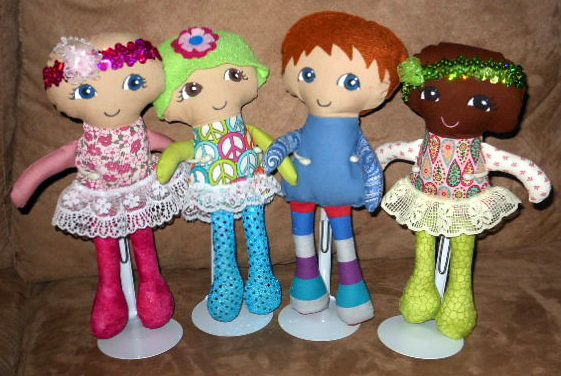 Fran's amazing Cuties for a cure chemo dolls
