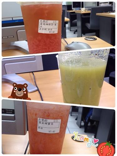 充滿台北恆逸與八杯茶的一週:葡萄柚綠茶/奇異果多多/番茄甜蜜茶 @8杯茶