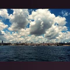#istanbul #türkiye #turkey #deniz #sea #view #manzara #boğaz #bosphorus #blue #mavi #bulut #cloud #sky #gökyüzü