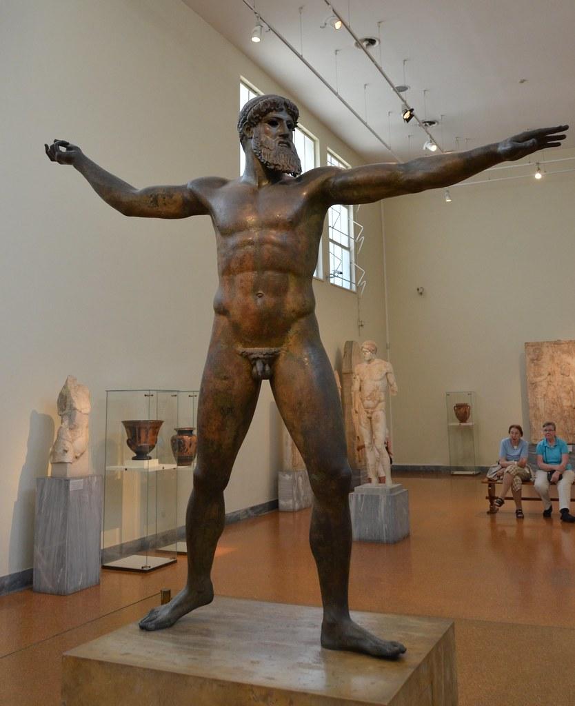 Bronze statue of Zeus or Poseidon, ca. 460 BCE, National Archeological Museum, Athens (3)