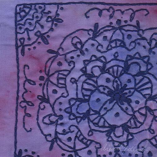 embroidered mandala close up