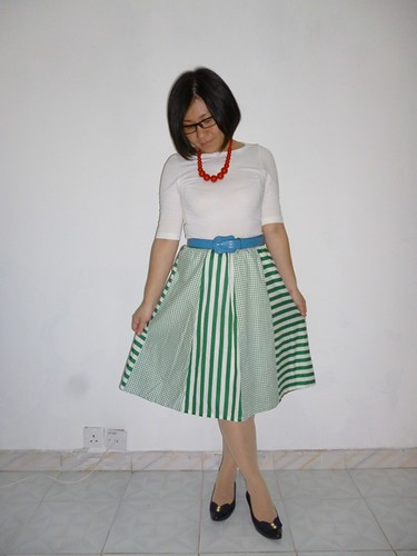 vintage green skirt 1