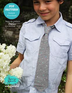 pablo necktie PDF pattern