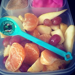 Loving a quickie park lunch with our @easylunchboxes   Spoon from @little_bento