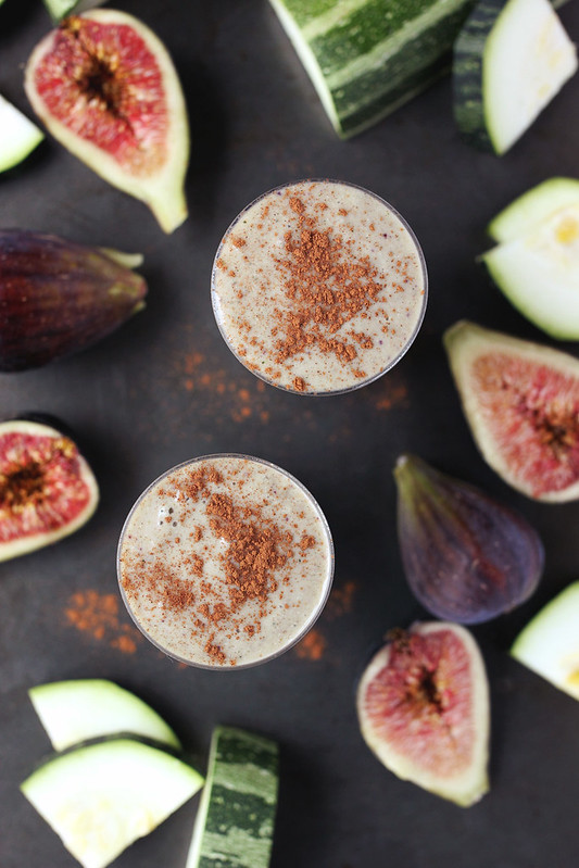 Zucchini Fig Smoothie // @tastyyummies // #glutenfree #vegan