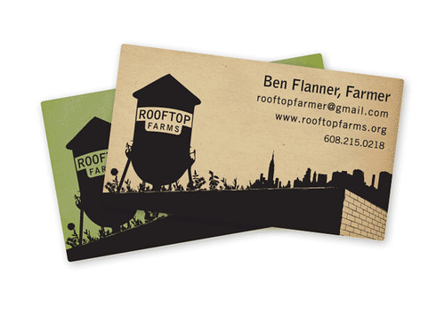 Rooftop Farms Business Card