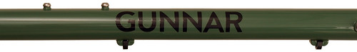<p>Gunnar Bullseye Black Decals over Monetary Green.</p>