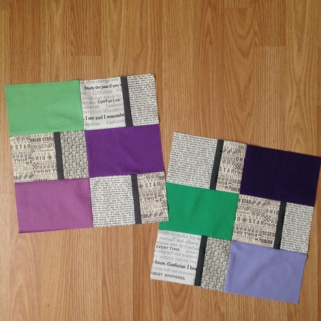 I redid these blocks after I noticed my measurements were off on the first set. Hope these are ok @aquilterstable. For July #faithcircle #dogoodstitches blocks #postcardblocks