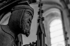 the imponent little wood Saint in (Denmark #19 Ribe Domkirke)