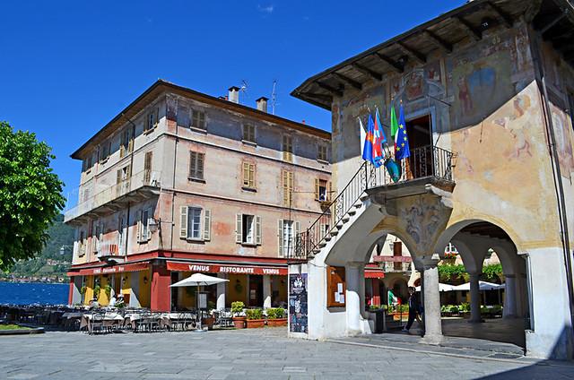 Piazza Motto, Orta San Giulio, Lake Orta, Italy