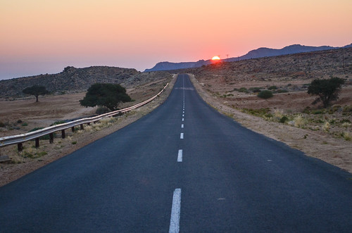 Sunset on the Aus-Lüderitz road