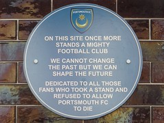 Photo of Portsmouth Football Club blue plaque