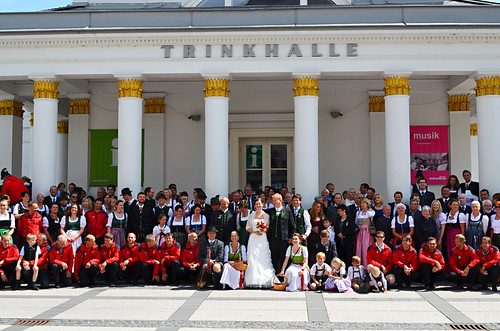 Dirndls and lederhosen, Bad Ischl, Austria