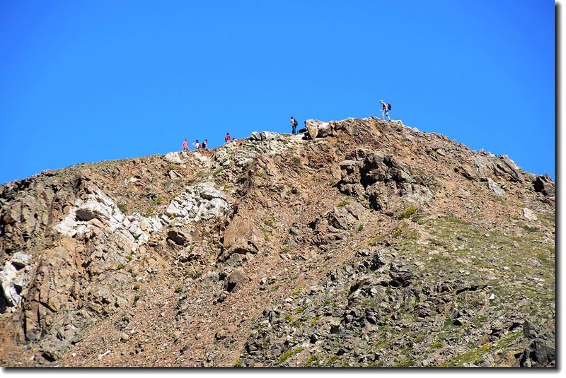 Hikers on the Torreys Peak - Kelso Ridge 1