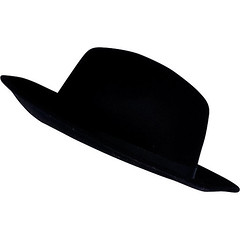 black trilby fedora river island hat