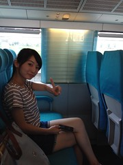 Our host Stella on the Maglev