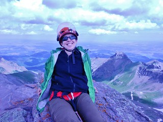 Clare Relaxing on Teakettle Summit