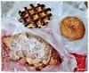 chocolate waffle, donut & almond croissant (=^ω^=) ❤