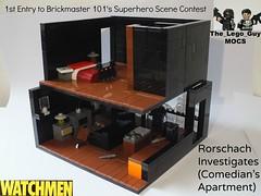 1st Entry to Nick/Brickmaster10's Superhero Scene Contest: Rorschach Investigates Comedian's Apartment (1/5)