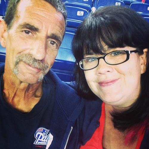 Dad, have you ever taken a selfie?!  #patsgame