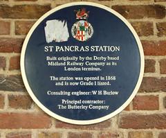 Photo of St Pancras blue plaque