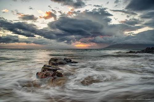 seascape storm landscape hawaii hurricane maui kehei iselle