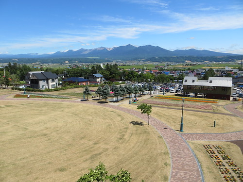 mountains japan landscape hokkaido valley tokachi nakafurano flowerpark lavenderpark