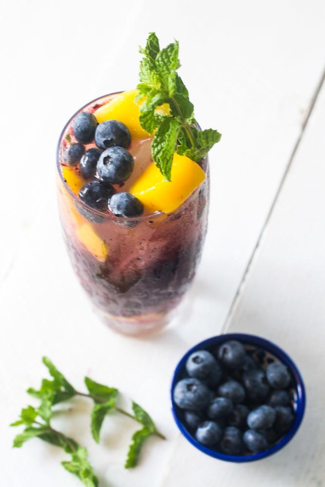 Blueberry Mango Mojito via LittleFerraroKitchen.com