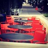 A red seat awaits...at Silvana in Harlem! Starting tomorrow outdoor seating at 116th &FDB!