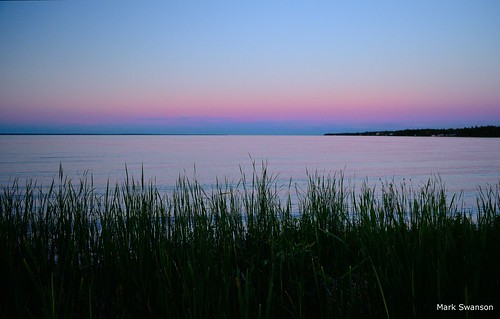 sunset sky lake color water up grass nikon michigan north polarizer straits huron mackinac mackinaw d5100