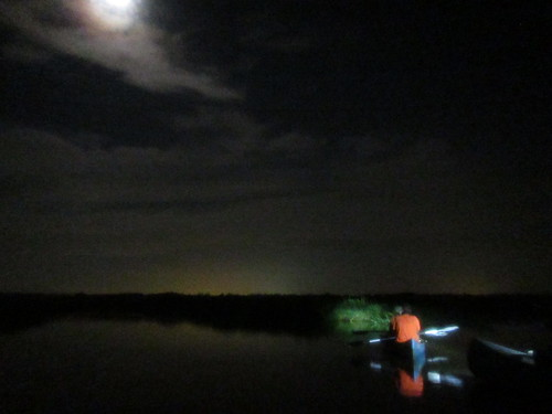 Moonlight paddle on Bayou Braud and Spanish Lake