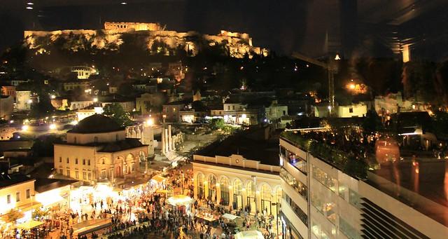 Monastiraki Athens from above