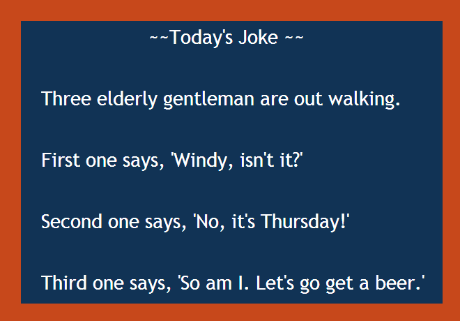 Today's Joke, two elderly men,myway2fortune.info,BrianMc