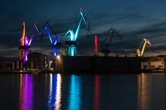Glow Giants. Seaport, Pula, Croatia