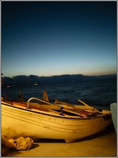 Image de Plage d'une longueur de 408 mètres. panorama beach sunshine boats coast sand kreta august boote crete mittelmeer mediterreneansea kreat küste