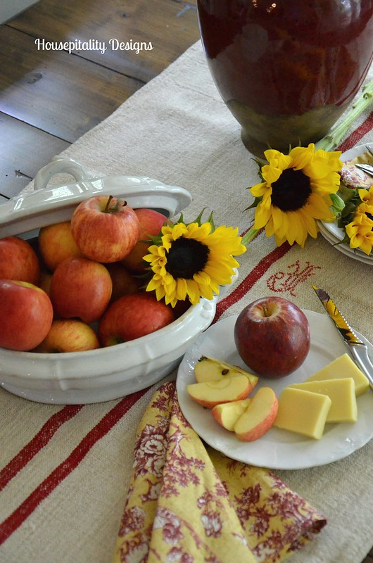 Sunflower and Fruit Centerpiece